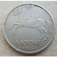 Норвегия 1 крона 1962
