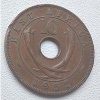 Британская Восточная Африка 10 центов, 1952  6-6-16