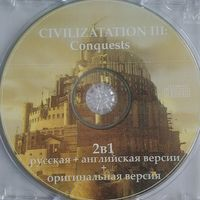 Civilization III Conquests Rus+Eng, CD, б-у ; 1 руб