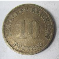 Германия. 10 пфеннигов 1899 G.  2-114