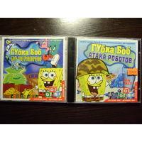 """Два игровых диска """"Губка Боб"""""""