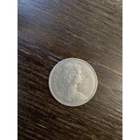 Монета, Великобритания, 10 пенсов 1975
