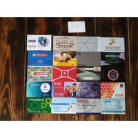 20 разных карт (дисконт,интернет,экспресс оплаты и др) лот 16