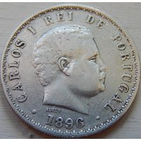 18. Португалия 500 рейс 1896 год, серебро