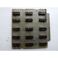 Плата с микросхемами К172 и К1ЛР721