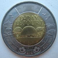 Канада 2 доллара 2019 г. 75 лет высадке союзников в Нормандии D-Day