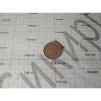 Монета 1 франк 1967 Бельгия