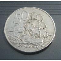 Новая Зеландия 50 центов 1979г. Большая.