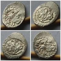 Отборная красавица!!! Редкая отборная денга, Василий II Темный (1425-1462), всадник/ сирена с луком!!! Состояние Супер aUNC+!!! Монета 1