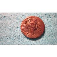 Монета римский республиканский денарий. 64 г. до н.э. Серебро