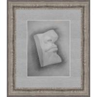 Рисунок, карандаш, фрагмент лица, 90-е