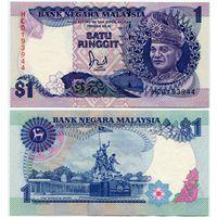 Малайзия. 1 ринггит (образца 1989 года, P27b, UNC)