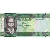 Южный Судан 1 фунт UNC (С 2017 года не выпускается. Заменен монетой 1 фунт)