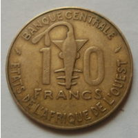 10 франков 1987 Западная Африка