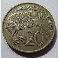 Новая Зеландия 20 центов 1974 г