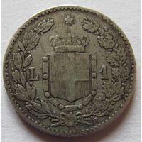 Италия 1 лира 1886