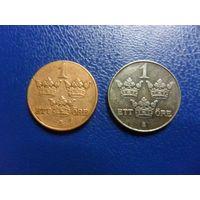Швеция 1 оре 1929 и 1949 г.-цена за монету