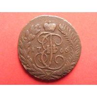 2 копейки 1766 ММ медь