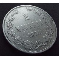 Финляндия в составе РИ. 2 марки 1874.