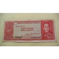 Боливия 100 песо 1962 г. 5116171    распродажа
