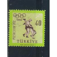 Турция Респ 1956  Олимпиада Мельбурн Вольная борьба #1480