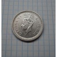 Британская Индия 1 рупия 1945, серебро