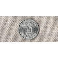 Реюньон 1 франк 1964 /РЕДКАЯ//(AR)