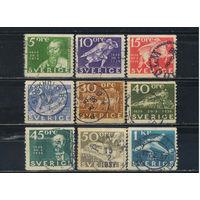 Швеция 1936 300 лет шведской почты #227-9,231-2,234-6,238