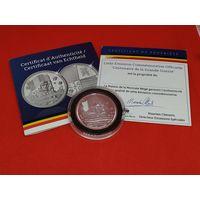Монетовидный жетон. Бельгия. Серебро. В память столетия первой мировой войны. Сертификат.
