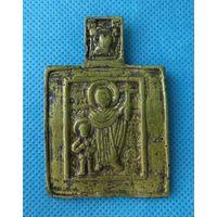 Икона старинная редкая 18 век-Святые мученики Кирик и Иулита