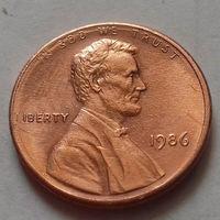 1 цент США 1986, 1986 D