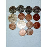 Монеты Румынии с рубля.