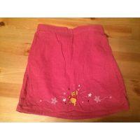 Яркая клевая фирменная юбка Mothercare на 2-3 года с Винни Пухом, розового цвета. Длина 29 см, ПОталии 23-27 см (сзади есть резиночка). Отличное состояние