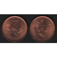 Канада _km289 1 цент 2000 год (-) (f31)**