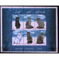 2004 Иран Фауна Кошки Блок**