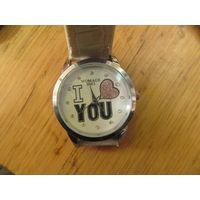 Часы кварцевые Womage 9363 I love you.
