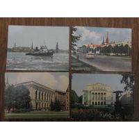 Почтовые открытки.1963г,1984г. Рига .В.Упитис,В.Поляков.