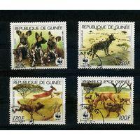 Гвинея 1987г. охрана животных, 4м.