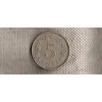 Мальта 5 центов 1972(Ab*)