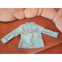 Куртка джинсовая для девочки бирюза