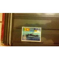 Транспорт, корабли, война, военный флот, флаги,гербы, эмблемы, марка, Шри-Ланка, 2000