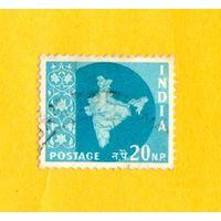 Марка Индии-1957 -1958 Карта Индии