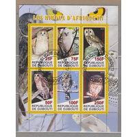 Совы птицы фауна Джибути  2010г лот 4