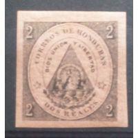 Гондурас старенькая марочка герб страны
