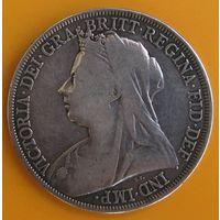1 крона Великобритания 1894 Королева Виктория Серебро 0,925