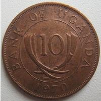 Уганда 10 центов 1970 г. (d)