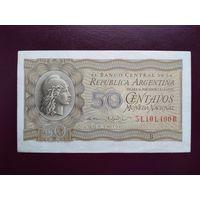 Аргентина 50 сентаво 1952