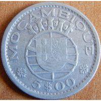 10. Португальский Мозамбик 5 эскудо 1960 год, серебро*