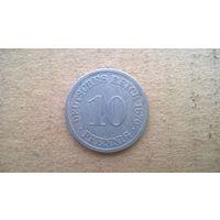 """Германская империя 10 пфеннигов, 1876""""А"""" (D-21)"""