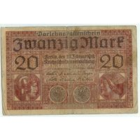 Германия, 20 марок 1918 год.